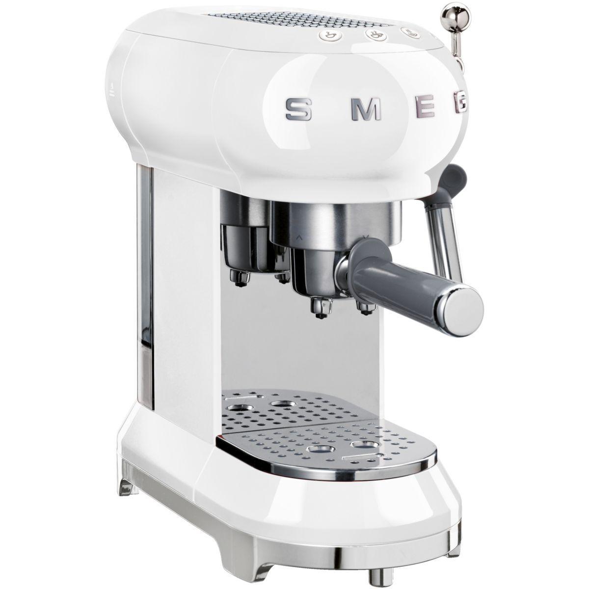 Machine � expresso smeg ecf01wheu blanc (photo)