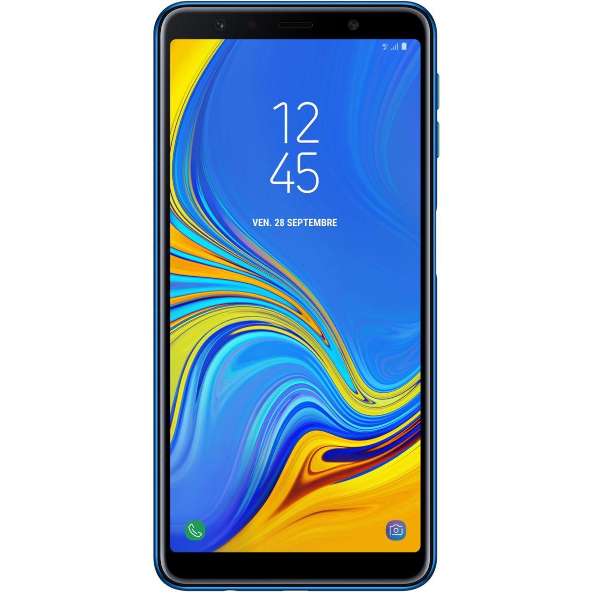 Smartphone samsung galaxy a7 bleu - livraison offerte : code liv