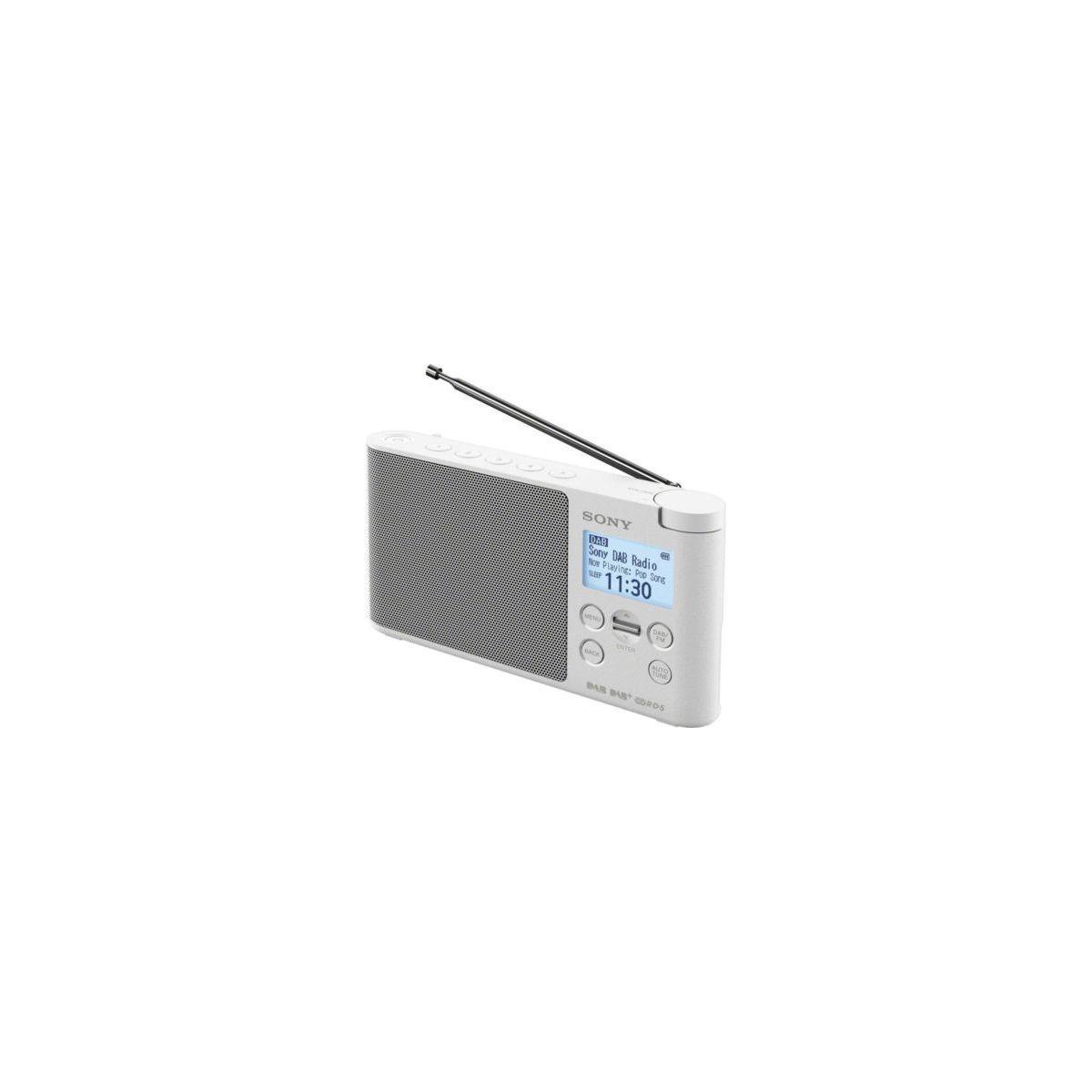 Radio num�rique sony xdrs41dbw.eu8 blanc - livraison offerte : code premium