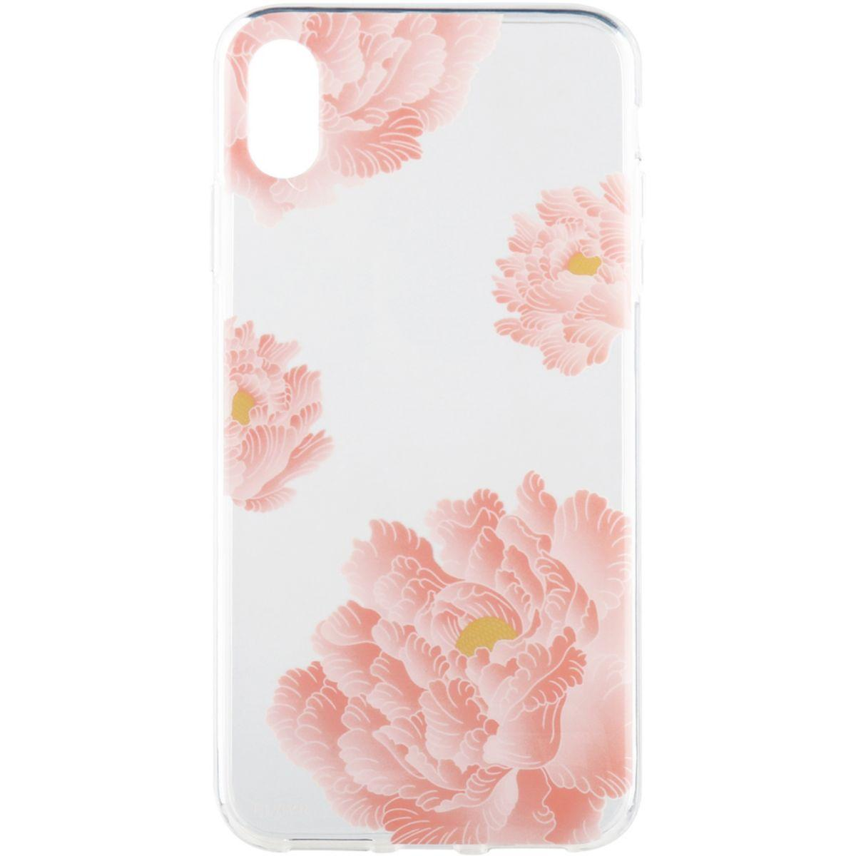 Coque flavr iphone xs max - iplate pink peonies