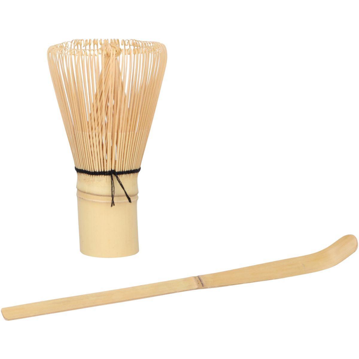Th� chevalier diffusion fouet a matcha et spatule en bambou (photo)