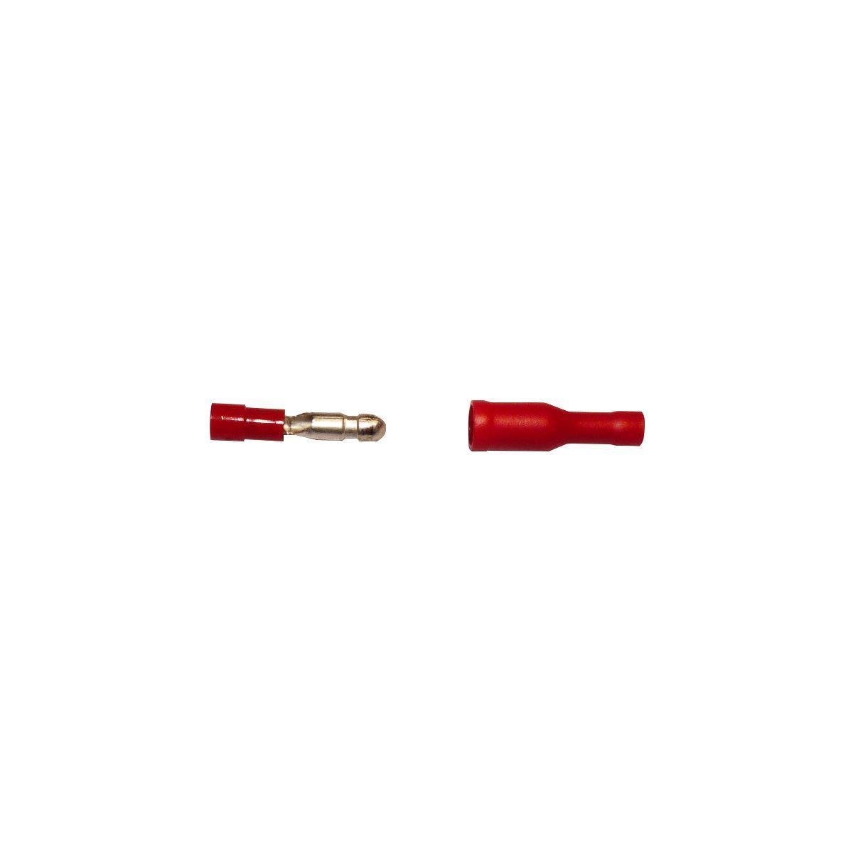 Interface sofare 5 males 5 femelles rondes rouges de 4mm (photo)