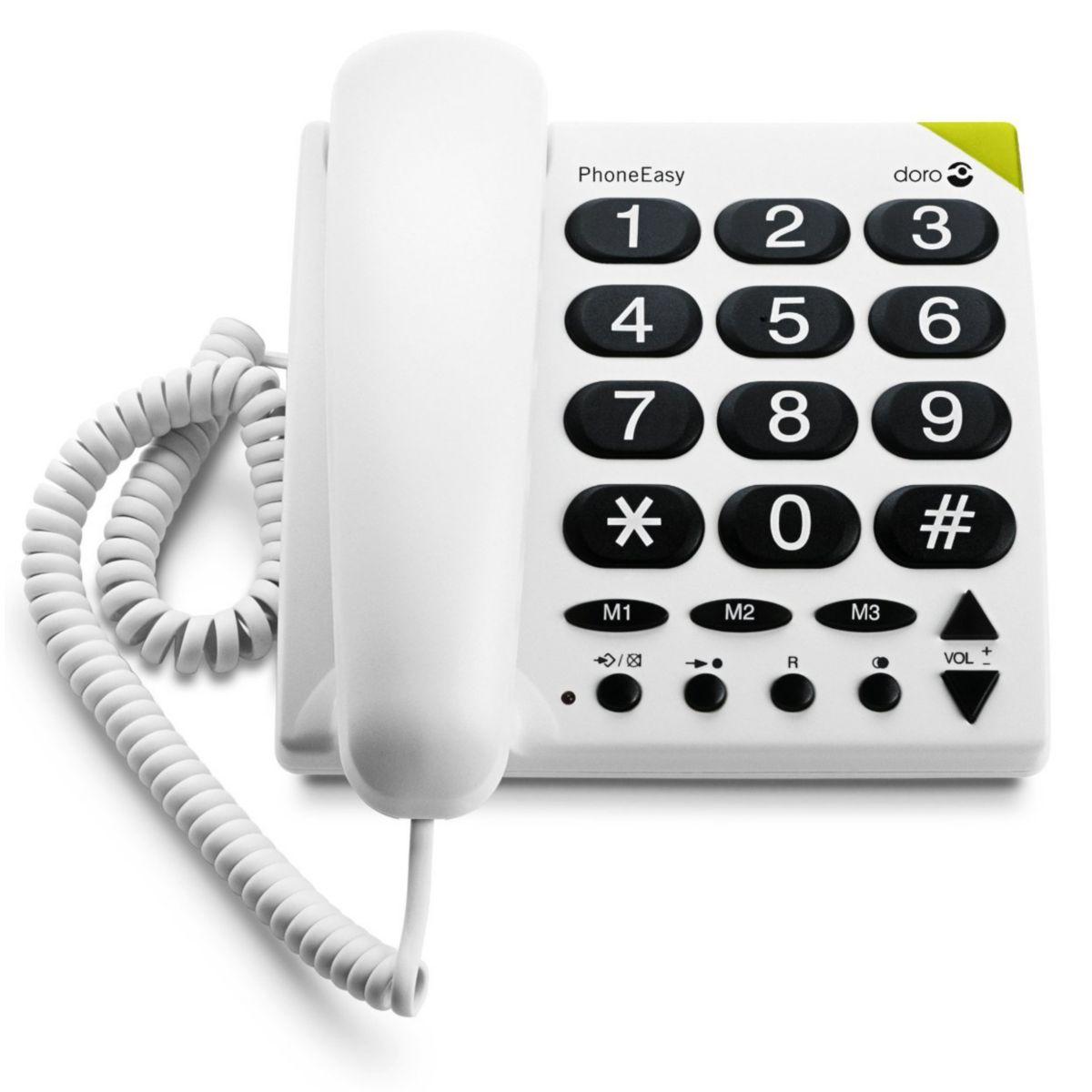Téléphone filaire doro phone easy 311c blanc - 10% de remise immédiate avec le code : cool10 (photo)