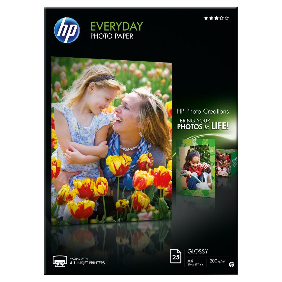 Papier photo hp q5451a- a4 170g semi-glacé 25 feuilles - 3% de remise immédiate avec le code : multi3 (photo)
