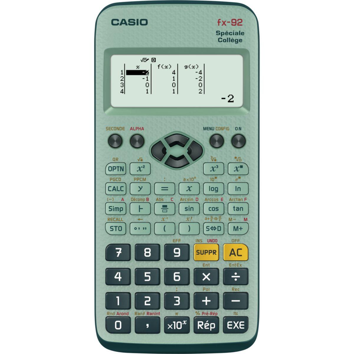 Calculatrice scientifique casio fx92 college (photo)