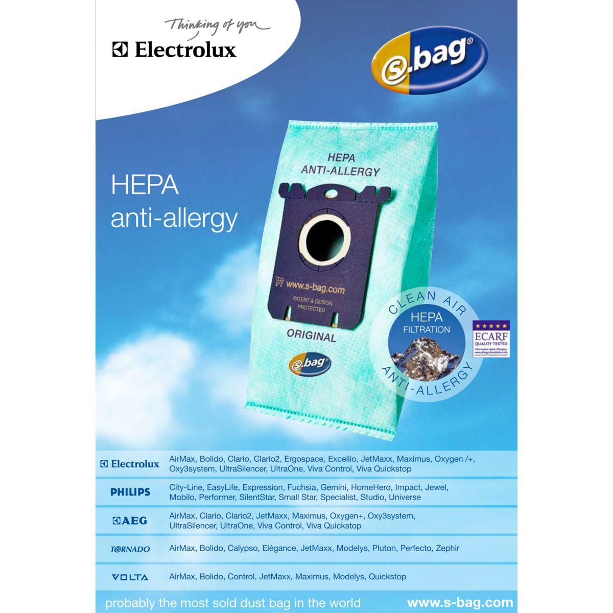 Sac aspirateur electrolux e206 b clinic s'bag