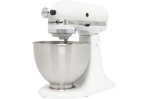 Robot sur socle kitchenaid 5k45ss blanc classic - produit coup de coeur webdistrib.com ! (photo)