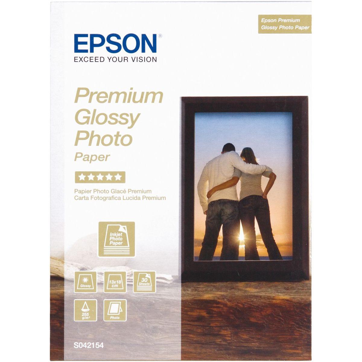 Papier epson 13x18-30f-255g/m� (photo)