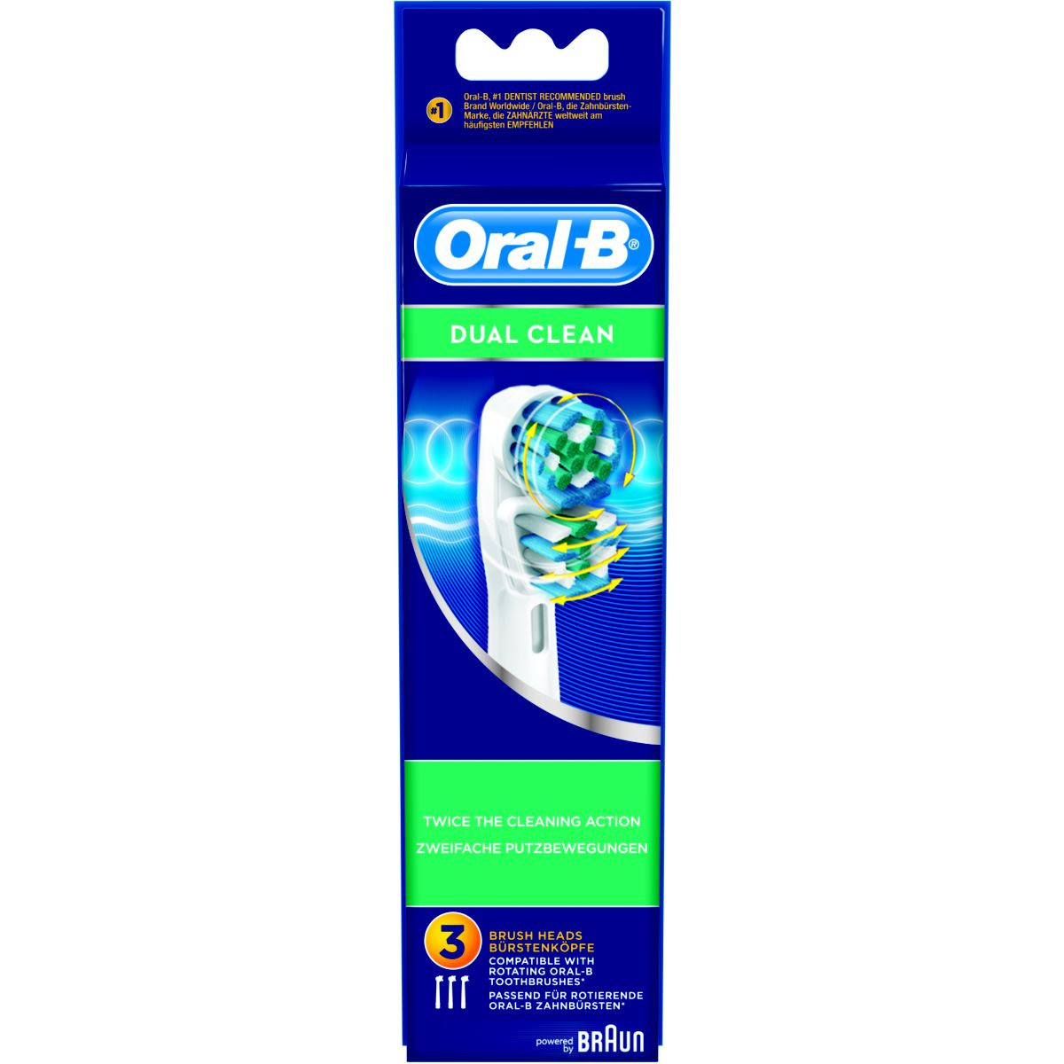 Brossette dentaire oral-b eb417 dual clean x3 (photo)