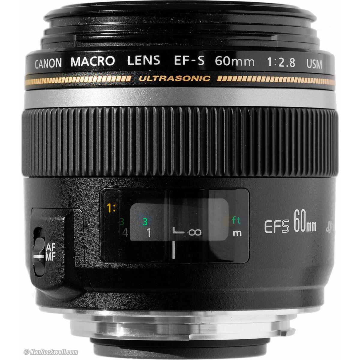 Objectif pour reflex canon ef-s 60mm f2.8 macro usm