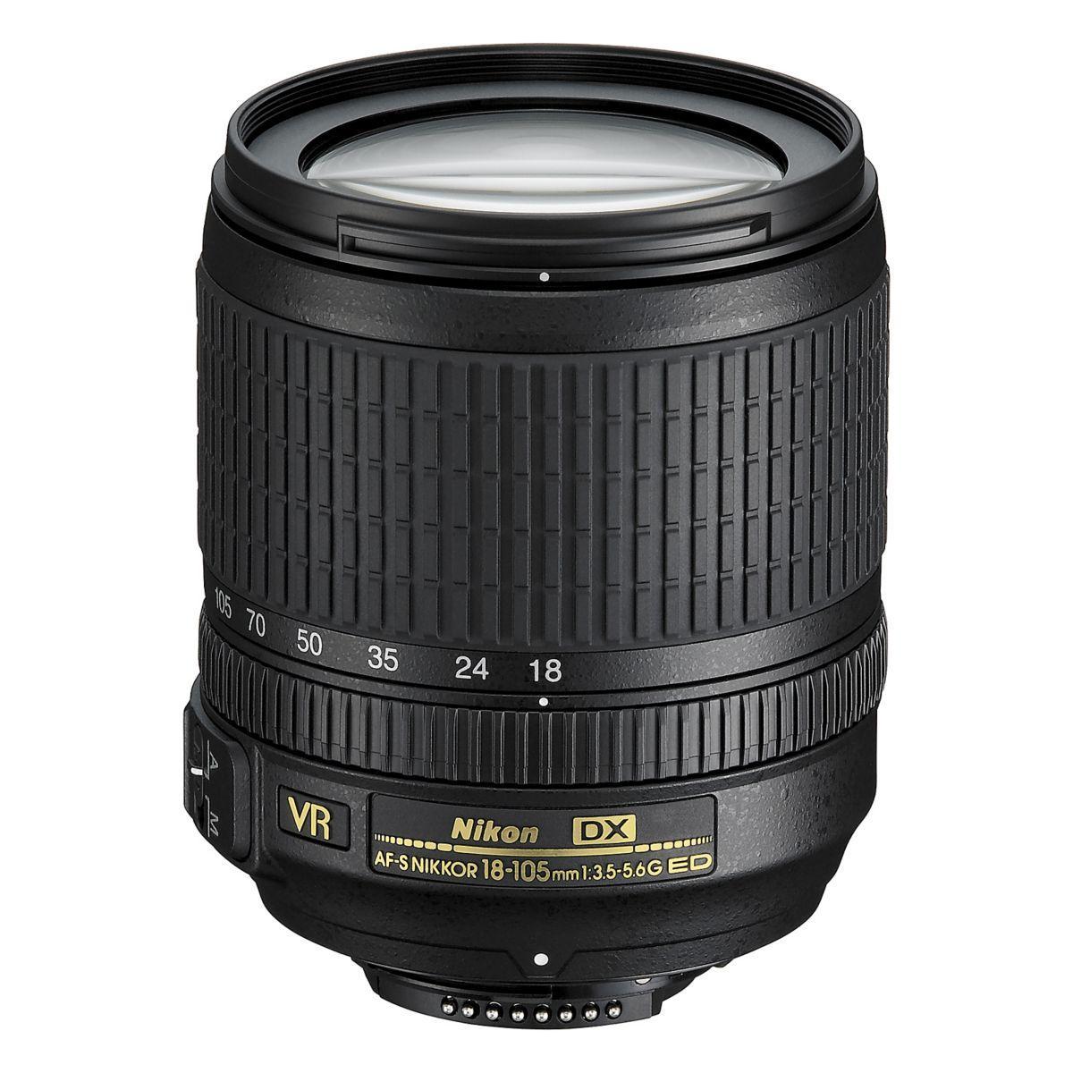Objectif nikon af-s dx 18-105mm f/3.5-5.6g ed vr nikkor