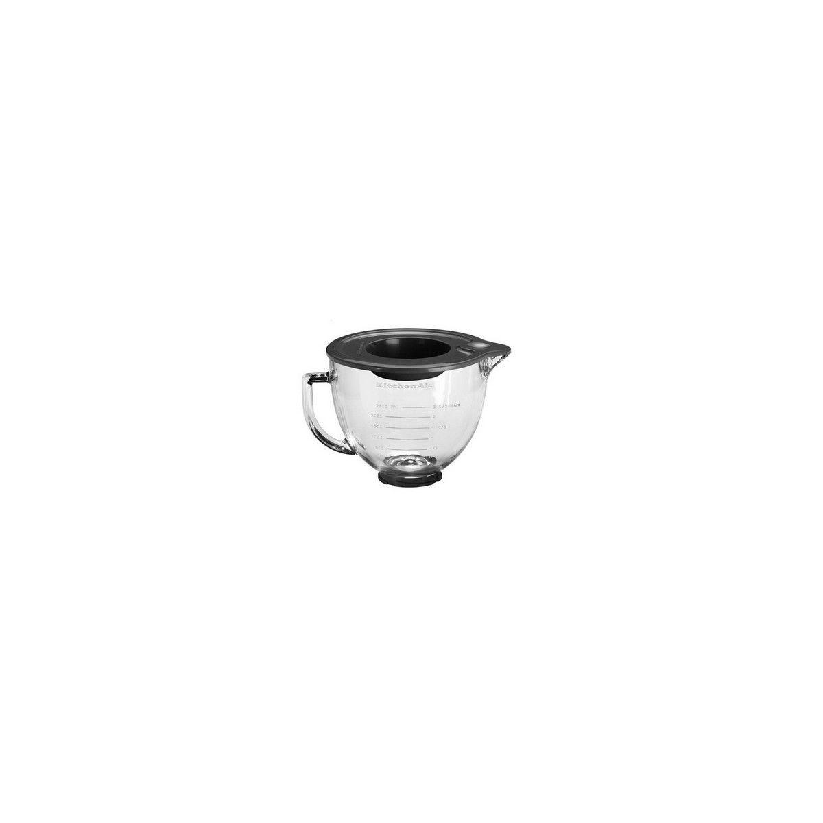 Bol kitchenaid 5k5gb bol verre pour robot socle artisan - livraison offerte : code premium (photo)