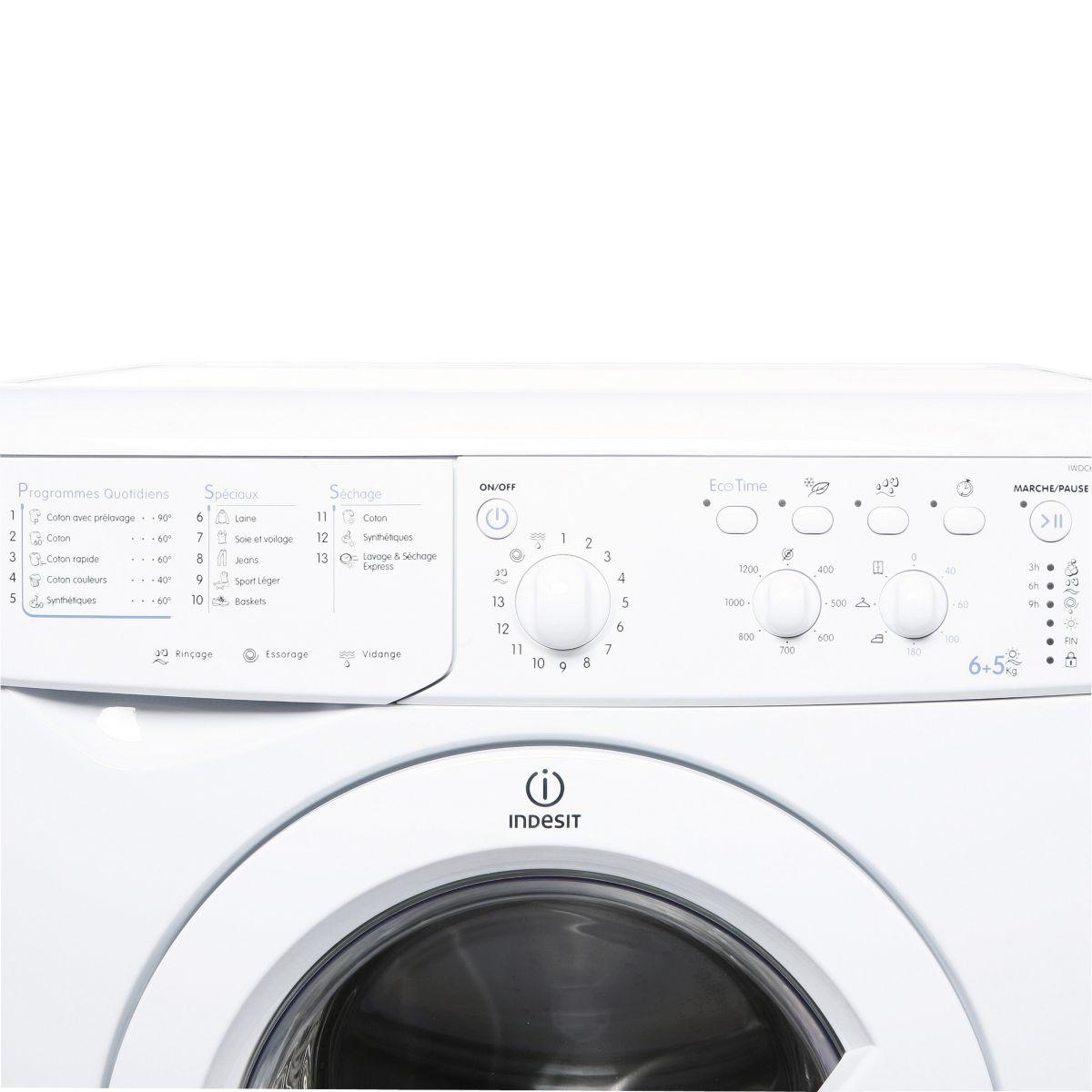 Lave-linge séchant indesit iwdc6125 - 2% de remise : code gam2