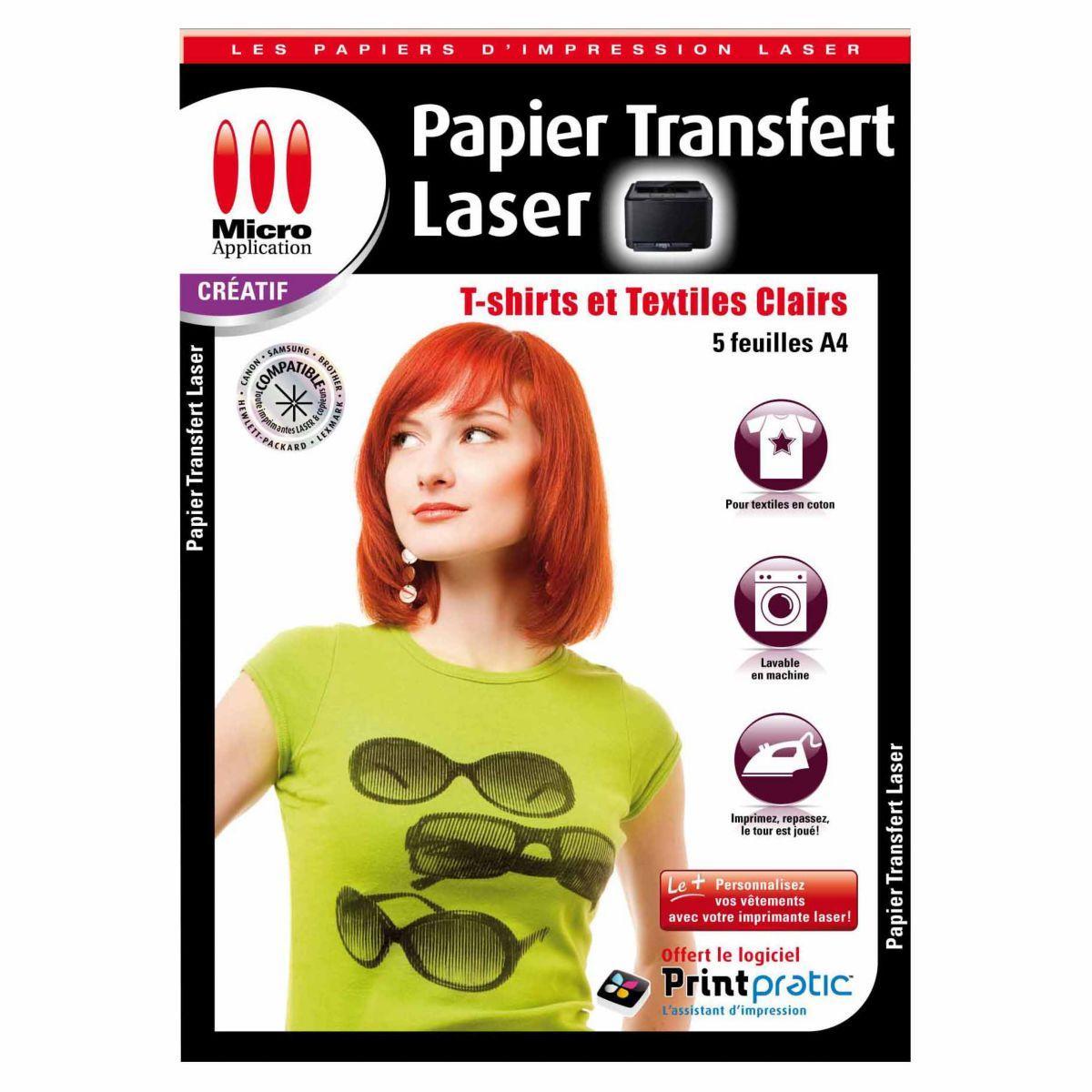 Papier créatif micro application transfert textile laser - 2% de remise immédiate avec le code : cool2 (photo)
