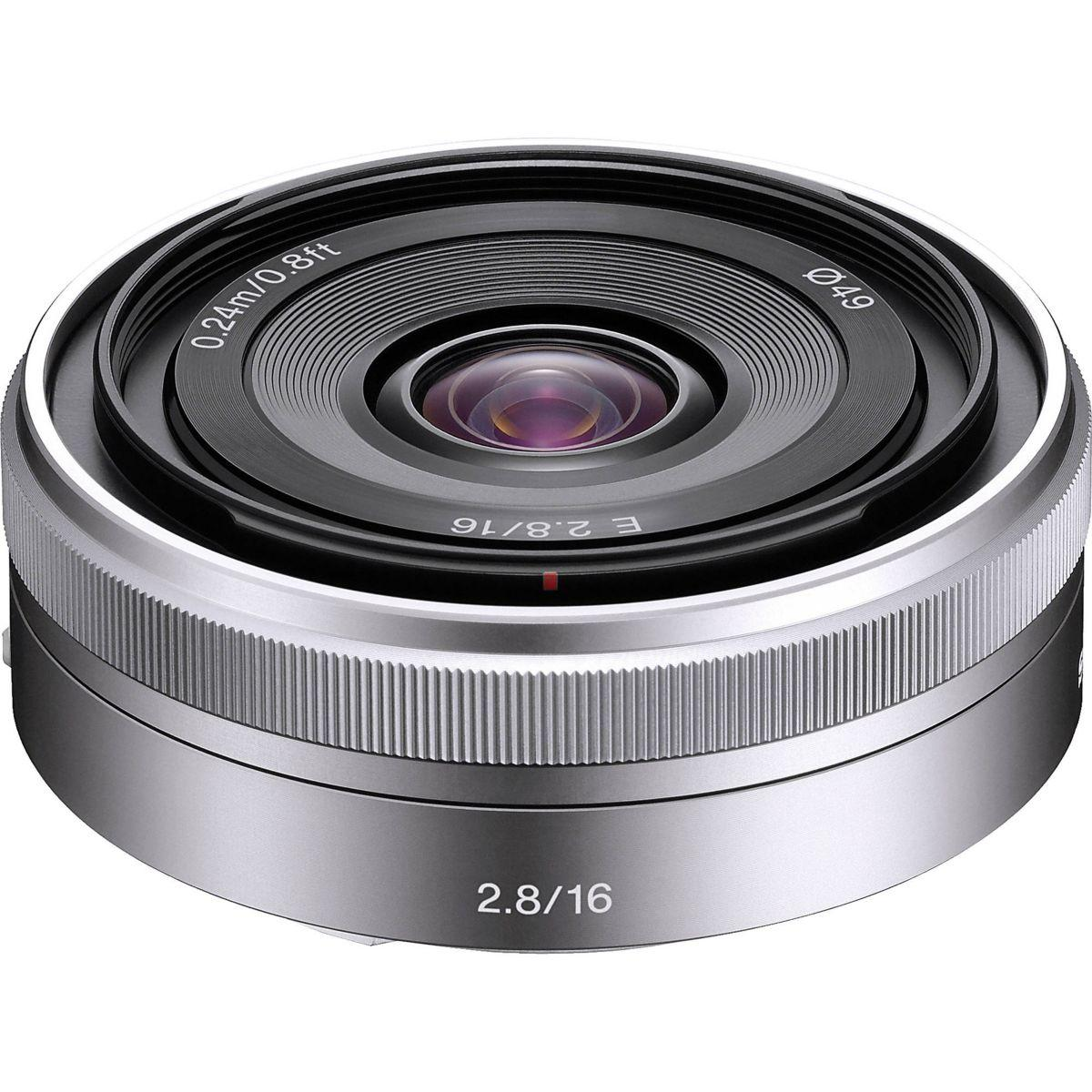 Objectif sony 16mm f/2.8 pancake (pour appareils photos num�riques sony � objectif interchangeable)
