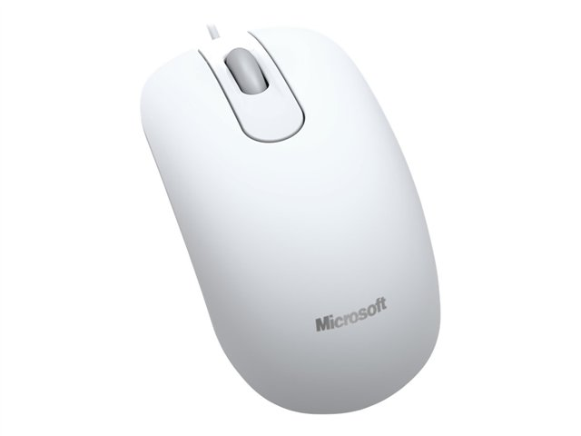 Souris filaire microsoft optical mouse 200 for business (blanche)