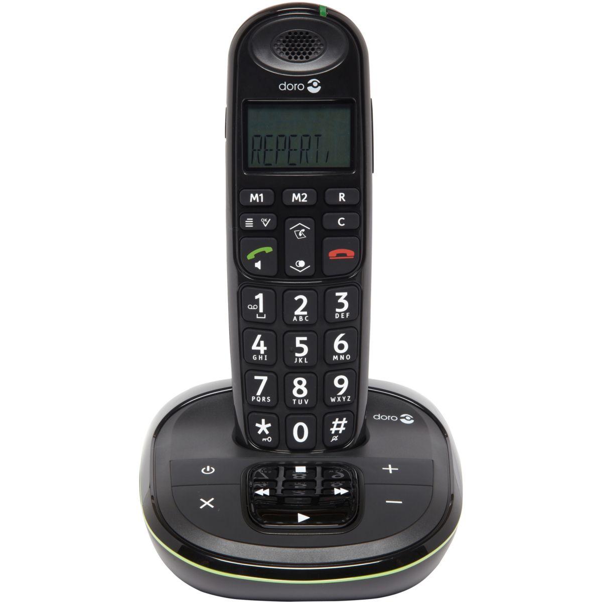 Téléphone répondeur sans fil doro phone easy 105 wr noir - 10% de remise immédiate avec le code : multi10 (photo)