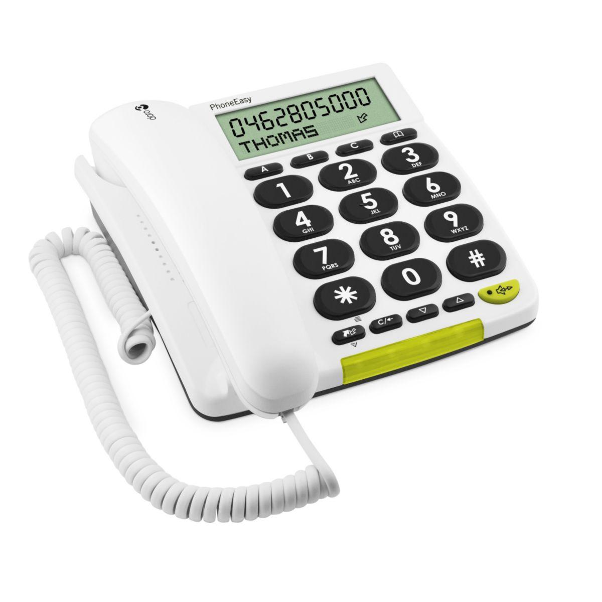 Téléphone filaire doro phone easy 312cs blanc - 5% de remise immédiate avec le code : wd5 (photo)