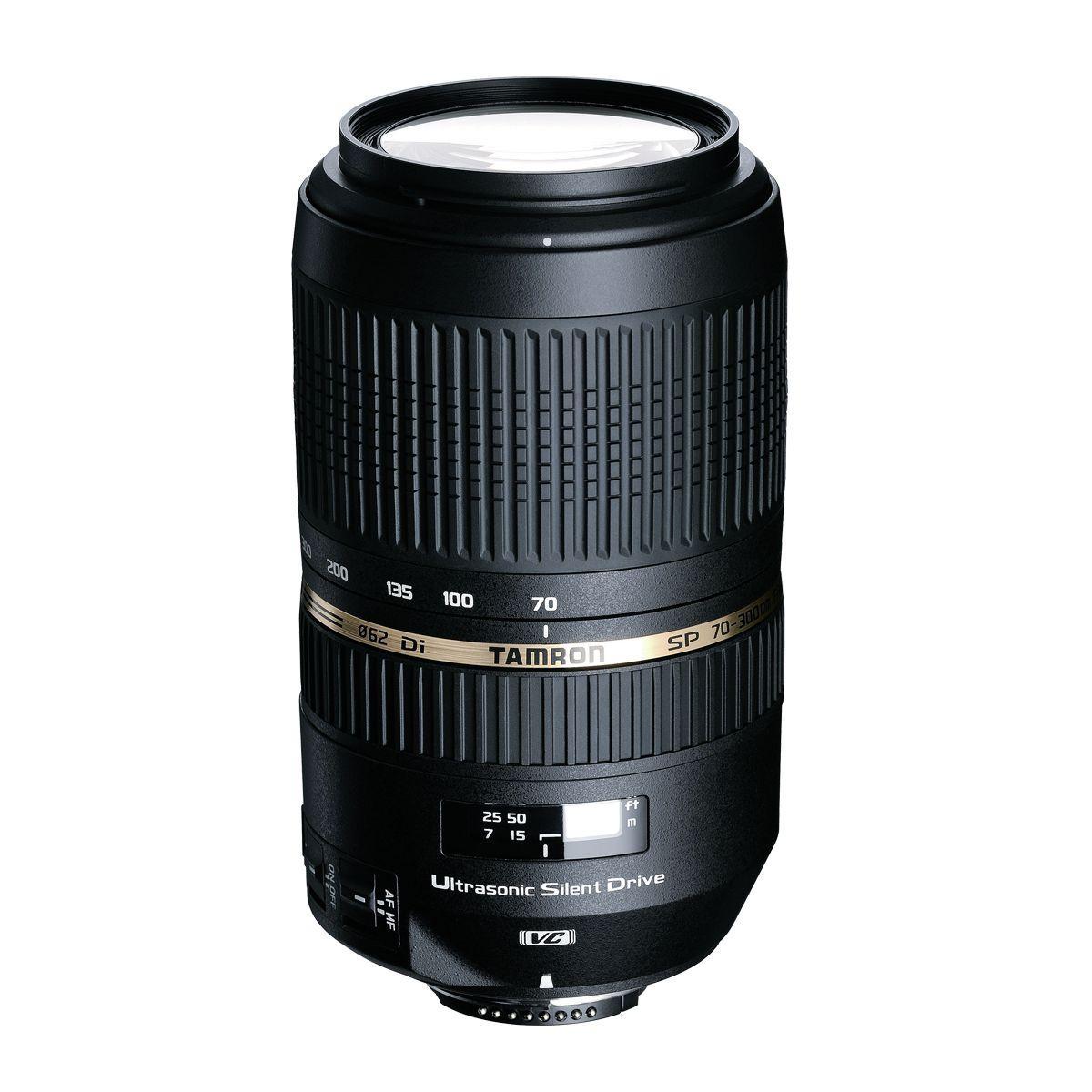 Objectif tamron sp af 70-300mm f/4-5,6 nikon di vc usd (pour reflex nikon)