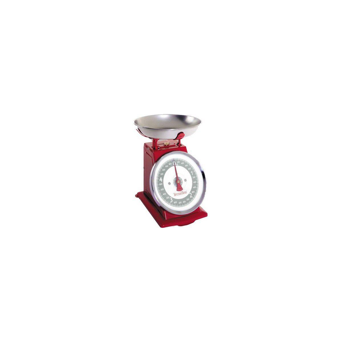 Balance de cuisine terraillon tradition 500 rouge - 7% de remise : code pam7