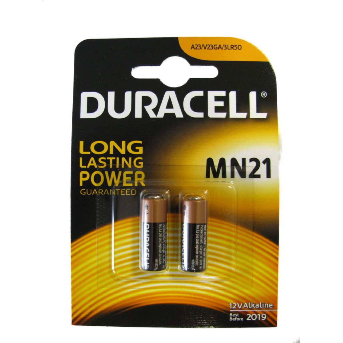 Pile non rechargeable duracell mn21 - a23 x 2 (photo)