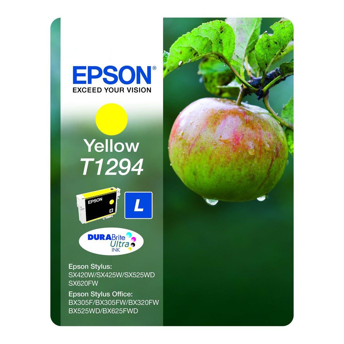 Cartouche d'encre epson t1294 jaune s?rie pomme
