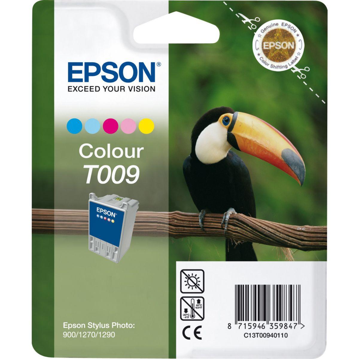 Cartouche d'encre epson t009 5 couleurs s?rie toucan - li...