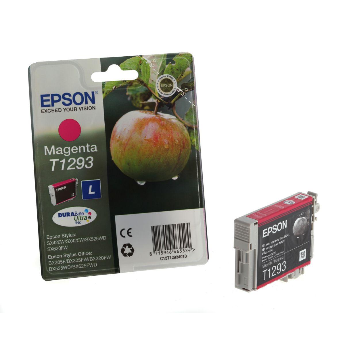 Cartouche d'encre epson t1293 magenta s?rie pomme