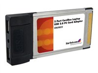 Adaptateur cardbus 2 ports usb 2.0 startech.com - 2% de remise immédiate avec le code : wd2 (photo)