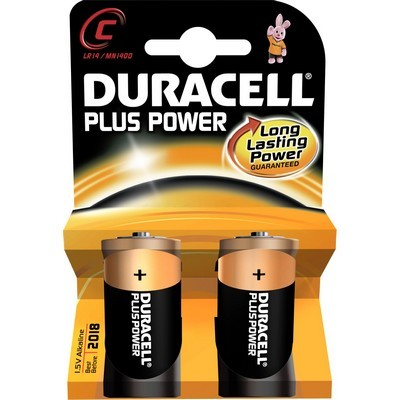 Pile non rechargeable duracell c / lr14 plus power* 2 (photo)