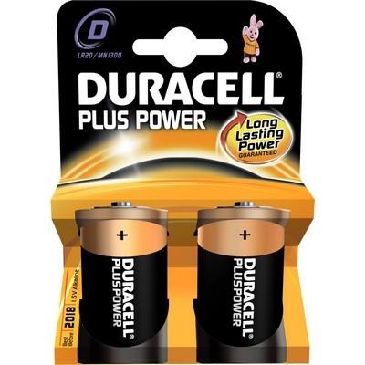 Pile non rechargeable duracell d / lr20 plus power * 2 (photo)