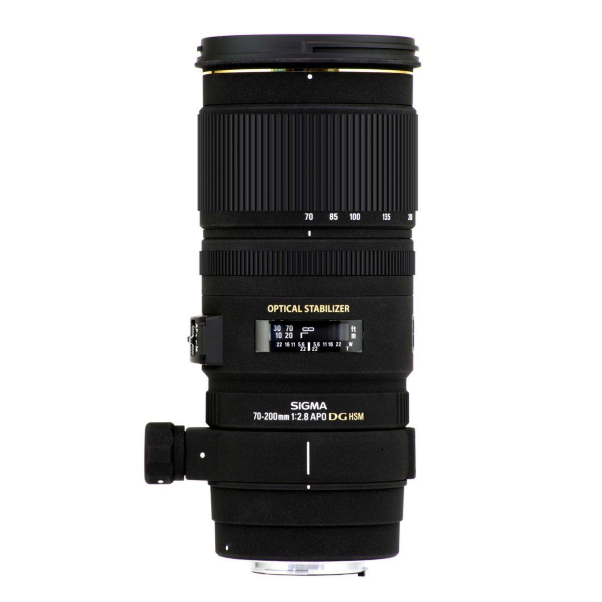 Objectif sigma obj 70-200mm f/2.8 ex dg os hsm f (pour reflex nikon)