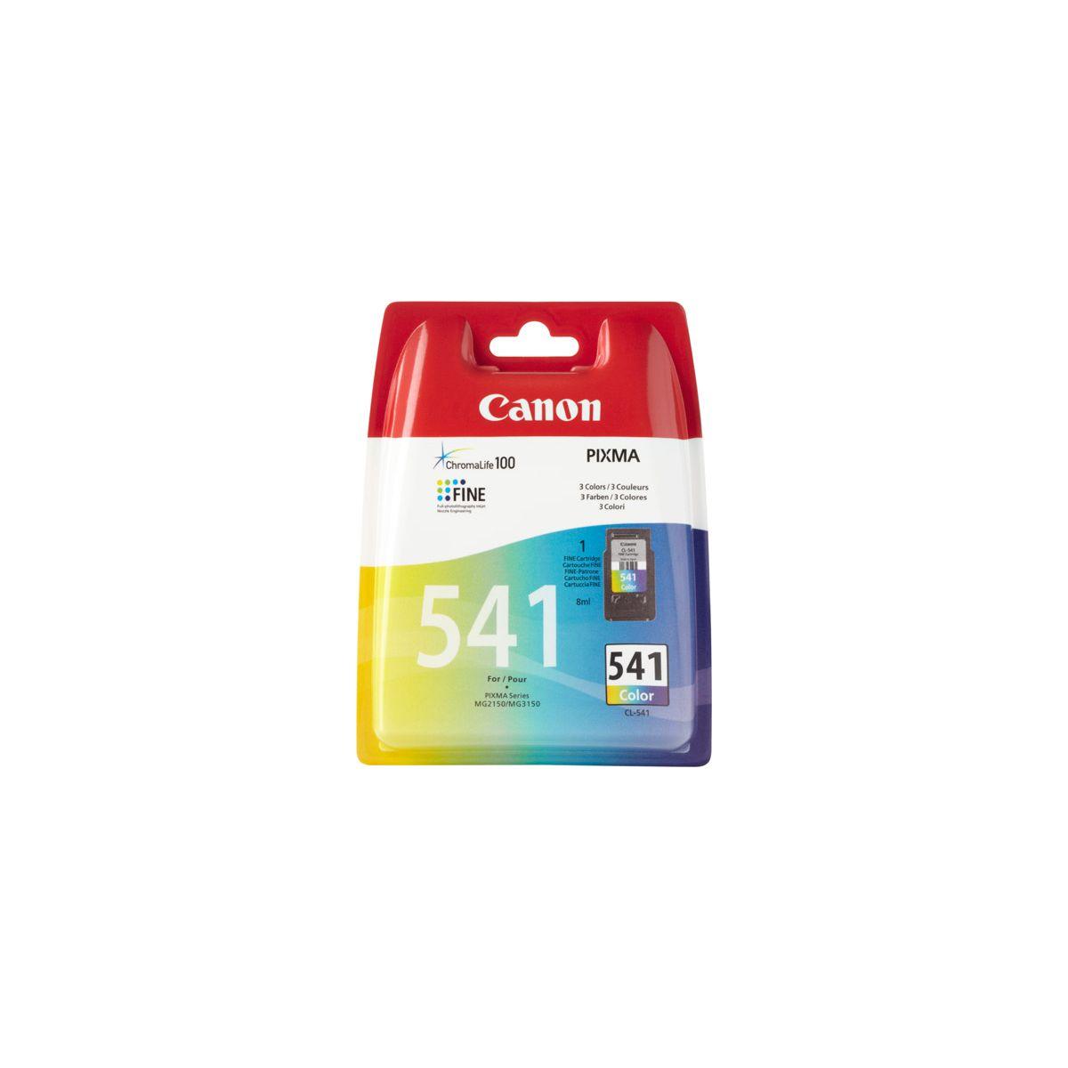 Cartouche d'encre canon n�541 couleurs