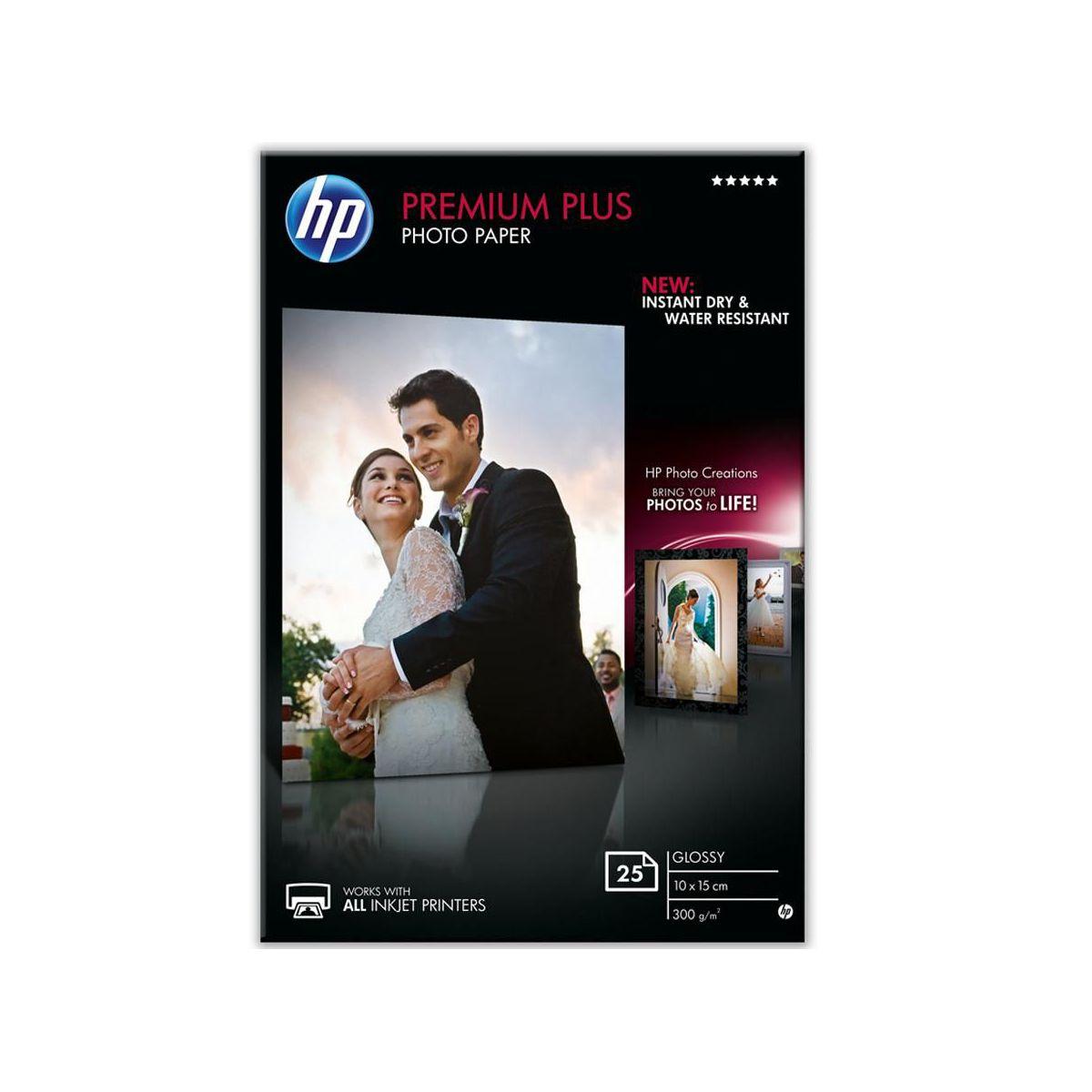 Papier hp premium plus 10x15 25f 300g (photo)