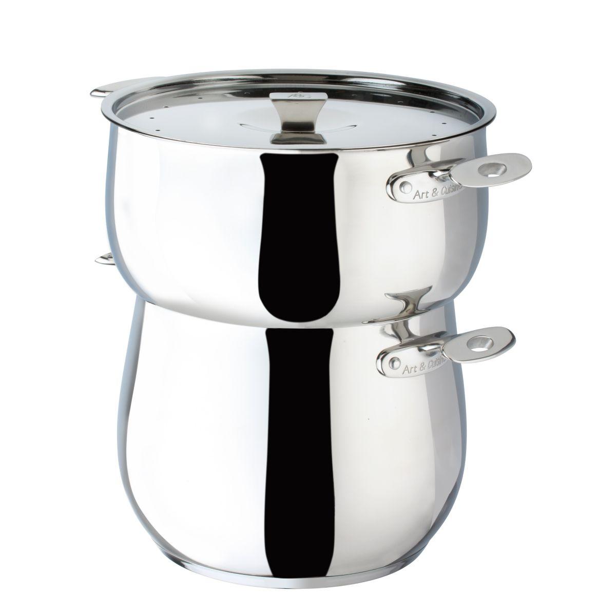 Atelier cuisine couscoussier 26cm 11l inox for Achat cuisine