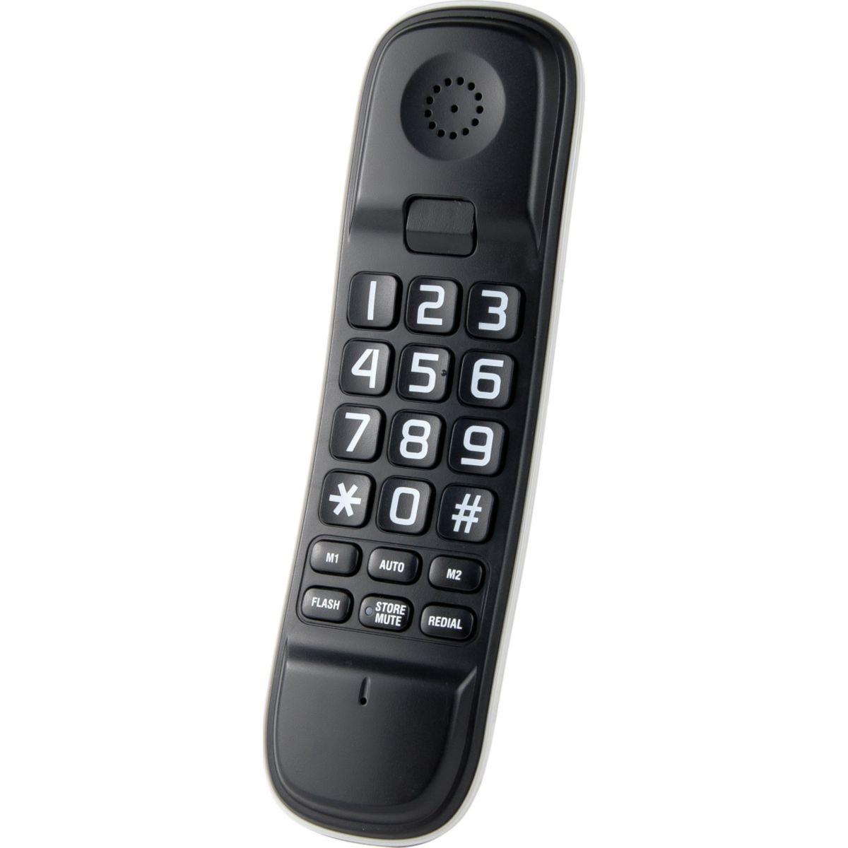 Téléphone filaire logicom l210 noir - 2% de remise immédiate avec le code : cool2 (photo)