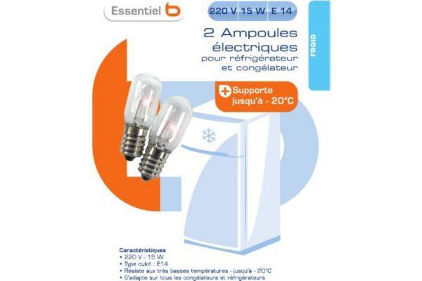 Ampoule sc refrigérateur 220v 15 - produit coup de coeur webdistrib.com !