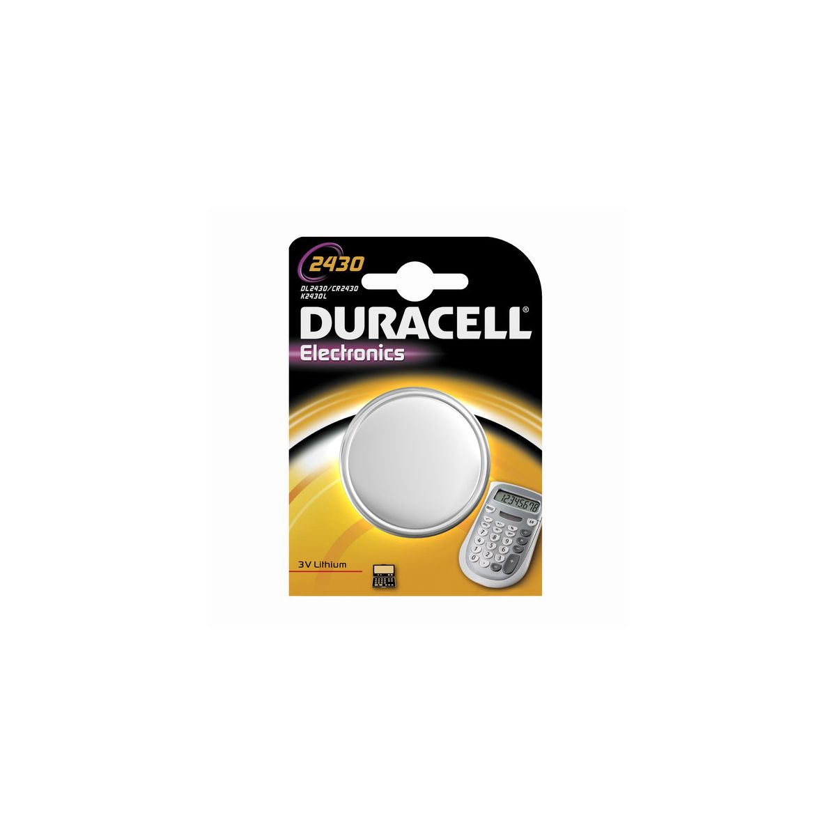 Pile non rechargeable duracell spe 2430 (photo)