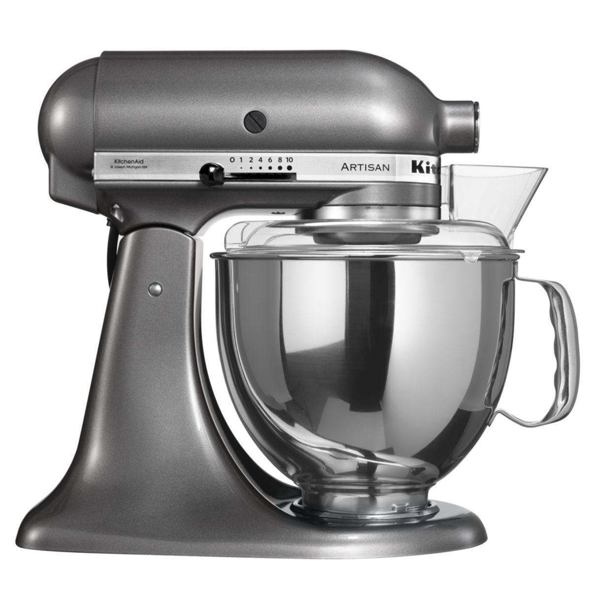 Robot sur socle artisan® kitchenaid 5ksm150ps ems gris etain - produit coup de coeur webdistrib.com !