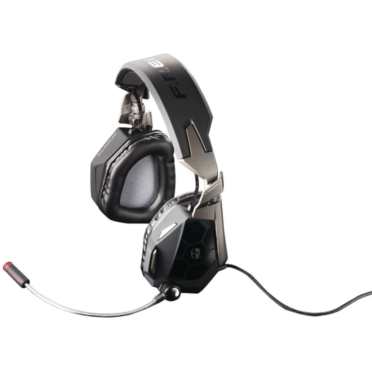 Casque micro gamer cyborg f.r.e.q 5 black pc/mac (photo)
