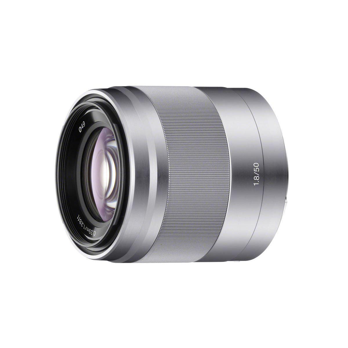 Objectif sony sel 50mm f/1,8 oss silver