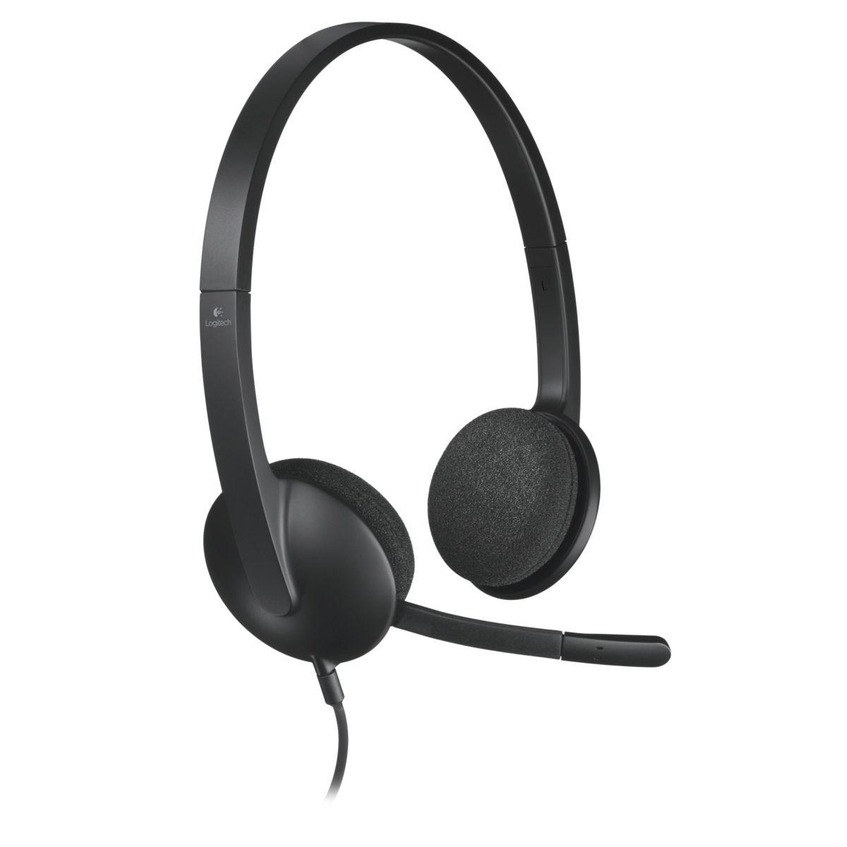Micro-casque logitech h340 usb headset (photo)
