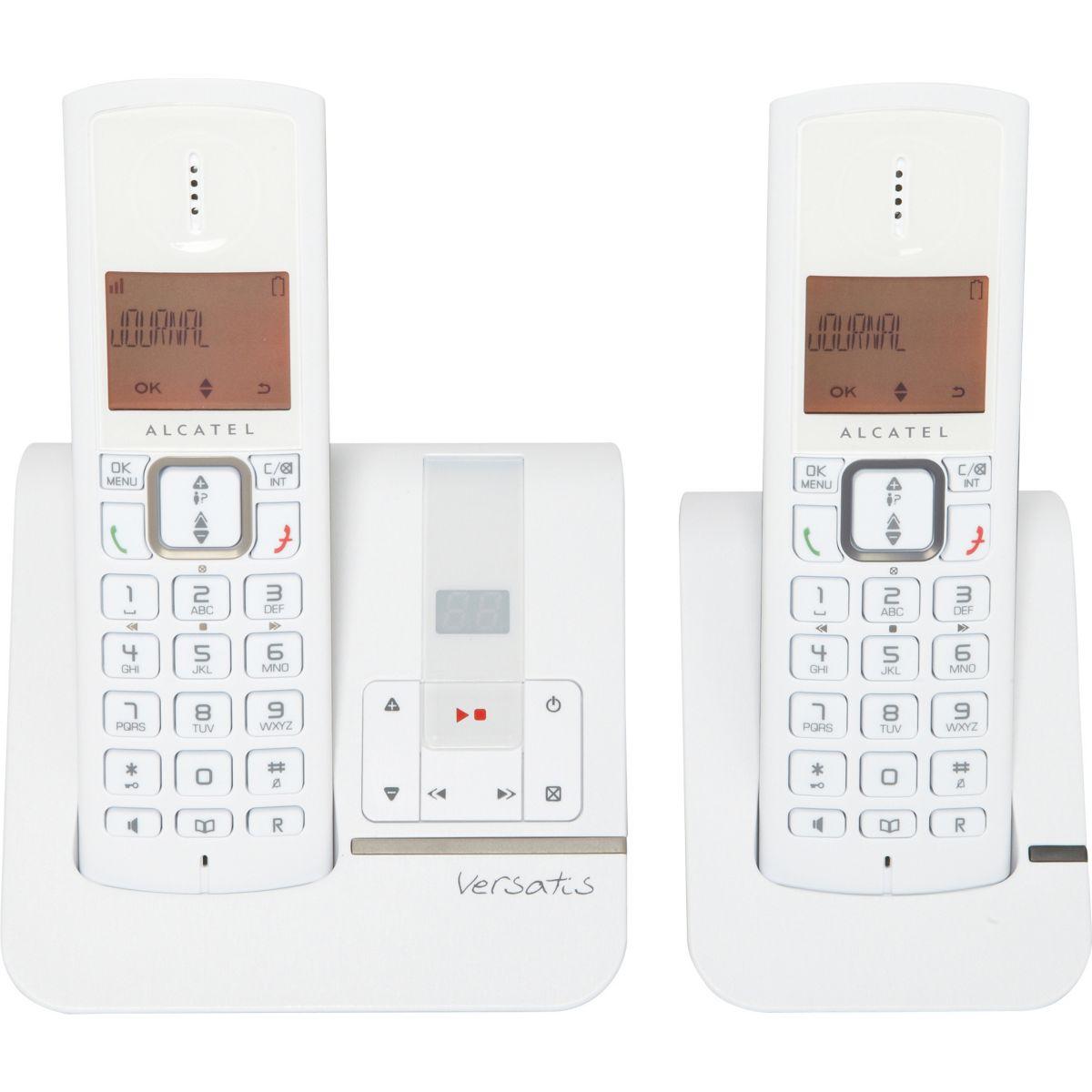 Téléphone répondeur sans fil duo alcatel f230 voice taupe - 3% de remise immédiate avec le code : multi3 (photo)