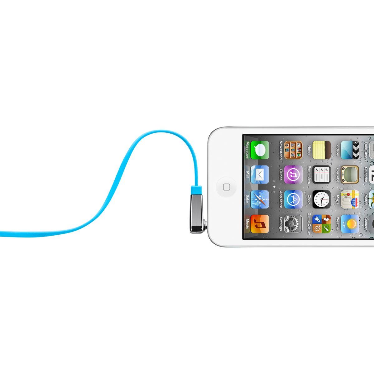 Connectique belkin câble plat coudé bleu - 20% de remise immédiate avec le code : cool20 (photo)