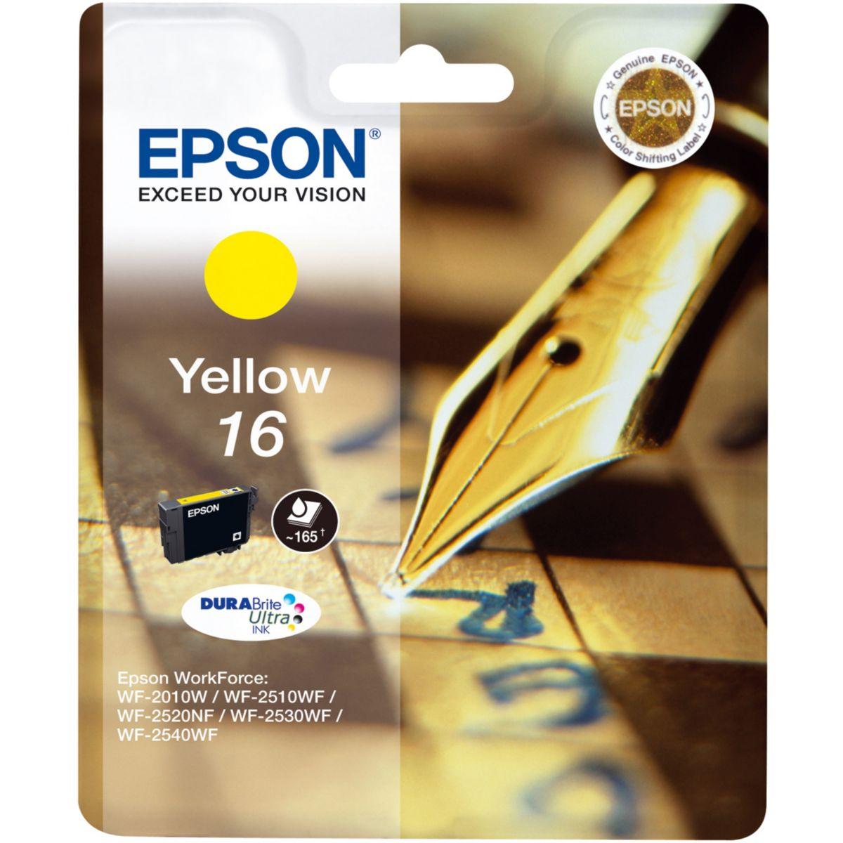 Cartouche d'encre epson jaune t1624 série stylo plume - produit coup de coeur webdistrib.com !
