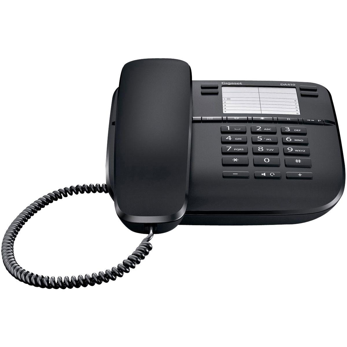 Téléphone filaire gigaset da410 noir - 20% de remise immédiate avec le code : cool20 (photo)