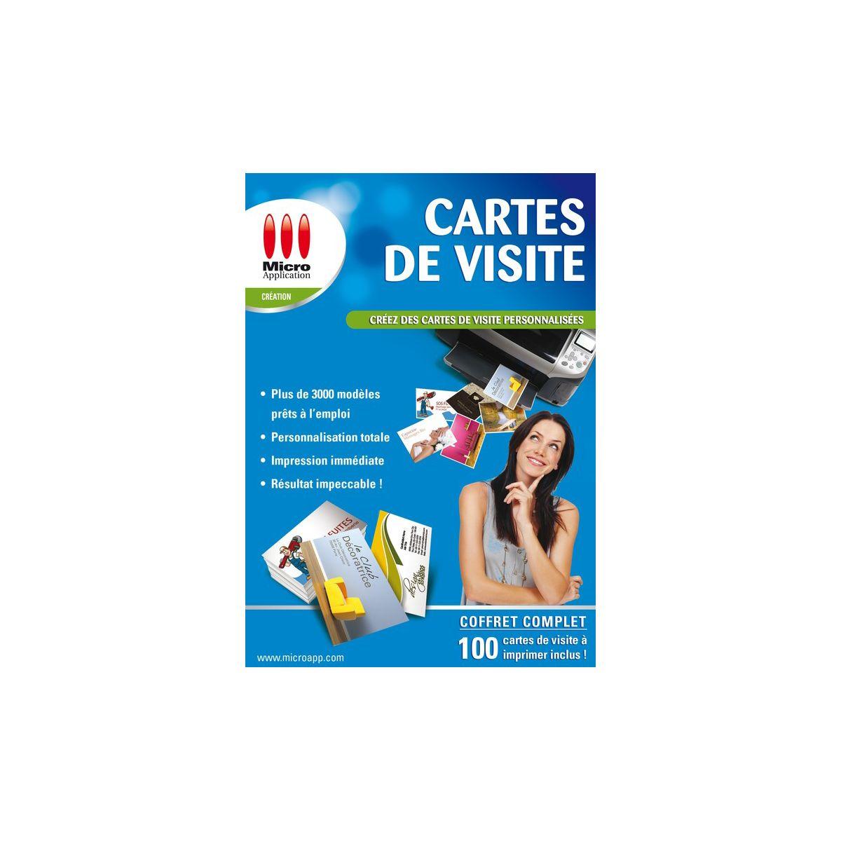 Logiciel pc micro application cartes de visite – livraison offerte : code livraison