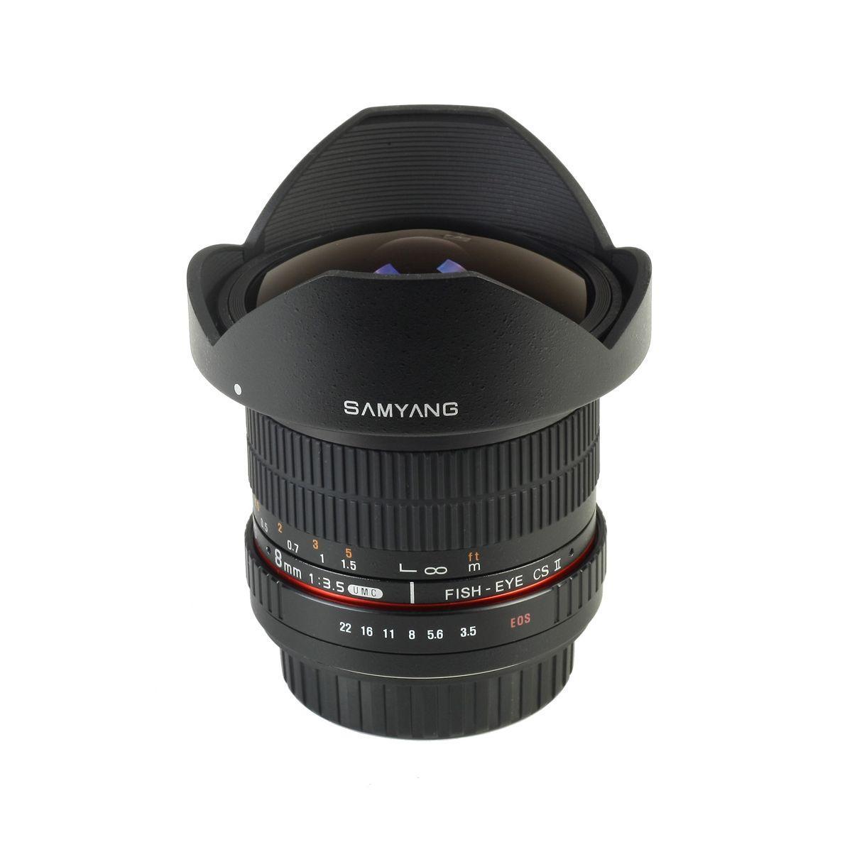 Objectif pour reflex samyang 8mm f/3.5 umc fisheye cs ii nikon