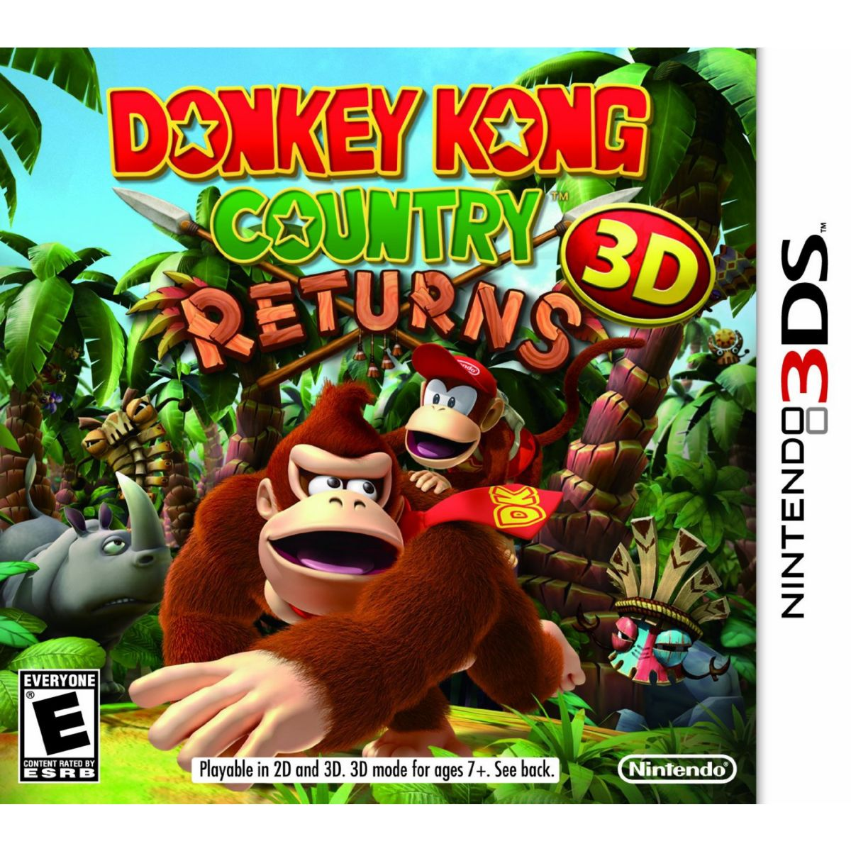 Jeu 3ds nintendo donkey kong country returns - 2% de remise immédiate avec le code : cool2 (photo)
