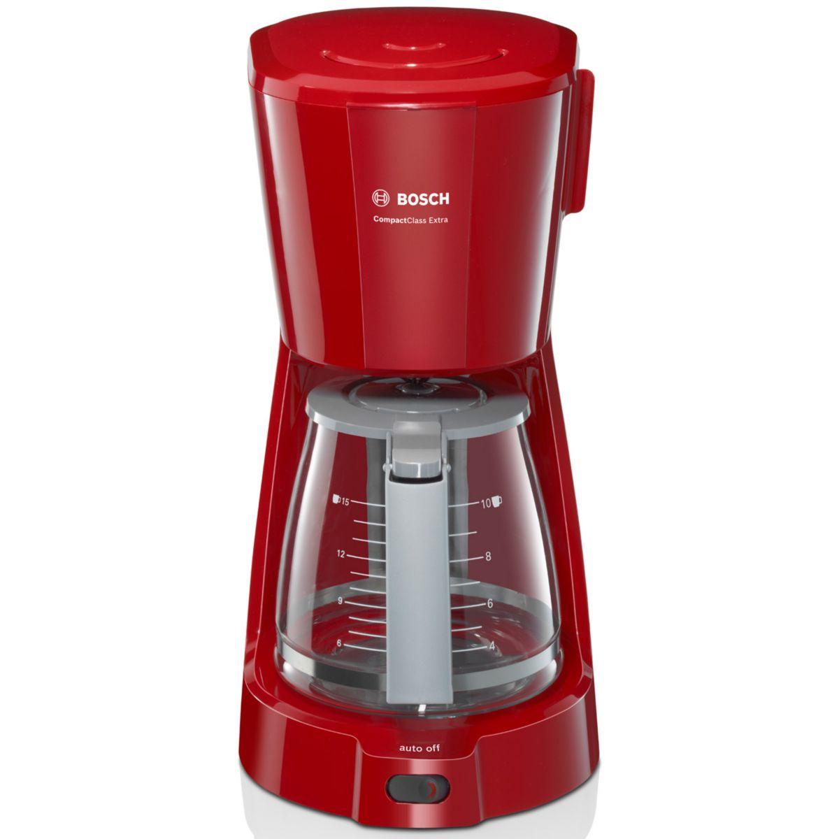 Cafetière filtre bosch tka3a034 rouge (photo)